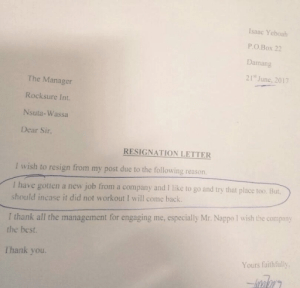 See The Hilarious Resignation Letter An Employee Handed Over To His Boss
